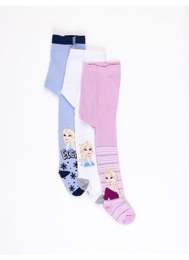 Frozen  Çocuk 3'Lü Külotlu Çorap 17078 Mavi